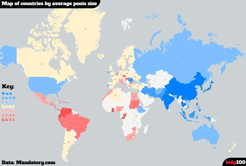 karta över snoppstorlek